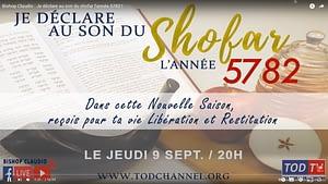 Bishop Claudio Je déclare au son du shofar l'année 5782